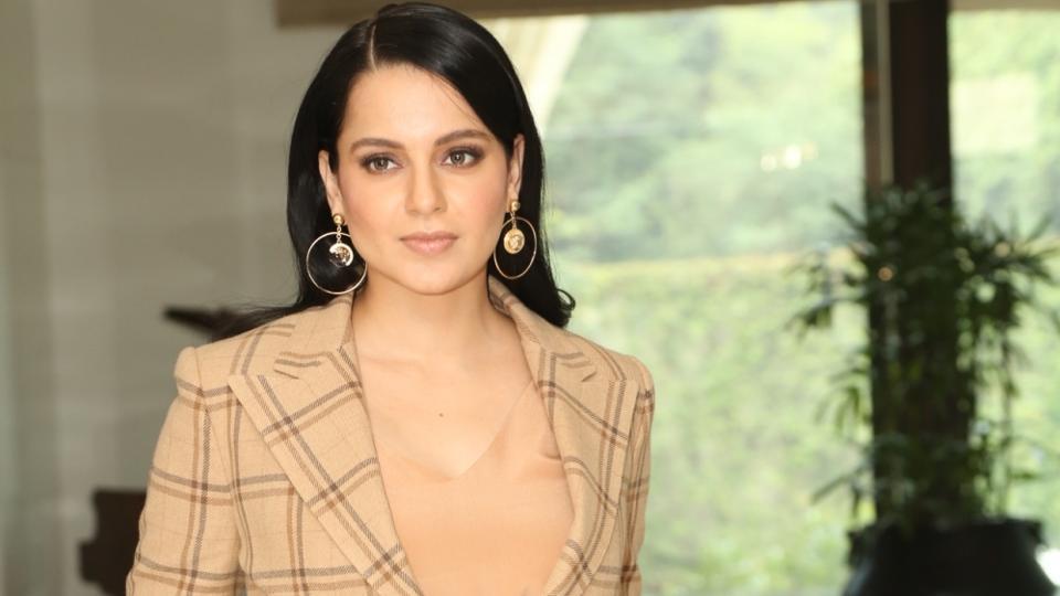 Kangana Ranaut at a press conference to promote her upcoming film Panga in New Delhi.