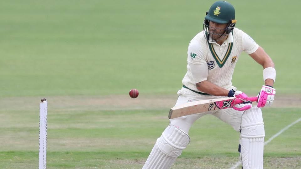 South Africa's Faf du Plessis in action.