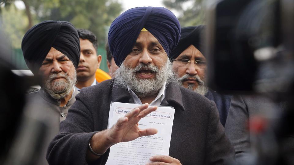 Sukhbir Singh Badal, president of Shiromani Akali Dal.