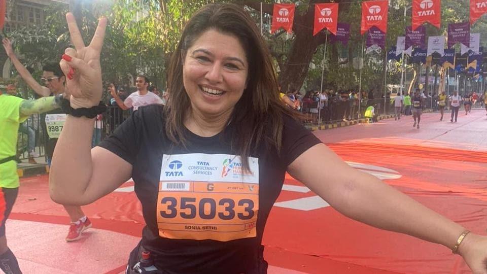 Sonia Sethi at the marathon.