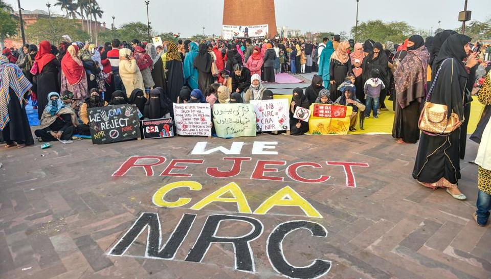 An anti-CAA and NRC protest, Lucknow, January 20, 2020