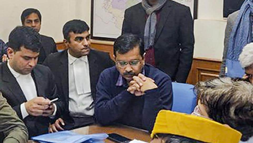 Chief Minister Arvind Kejriwal files his nomination for Delhi elections after a 6-hour-long wait