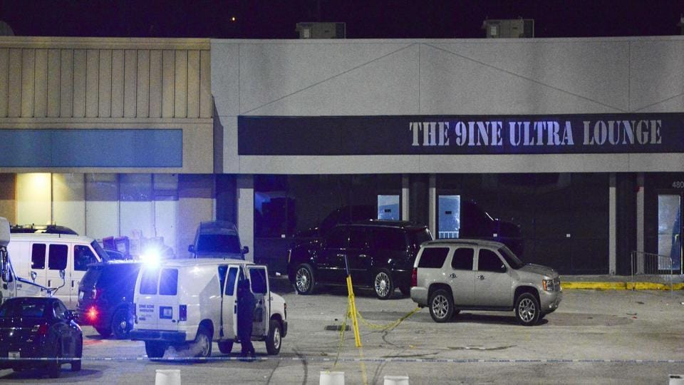 The shooting took place shortly before midnight Sunday, Kansas City police said.