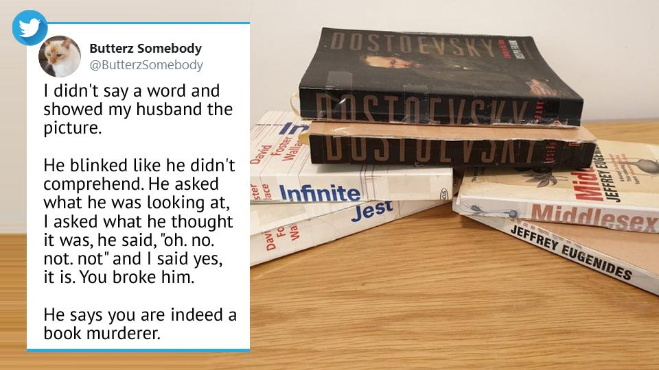 The tweet has left many bibliophiles horrified.