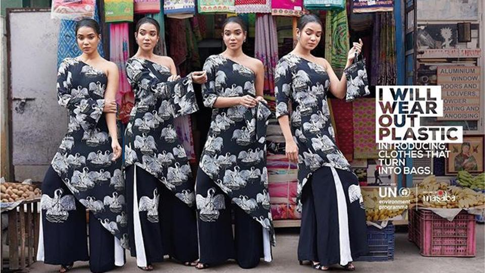 Fashion designer Masaba Gupta launches anti-plastic clothing line.