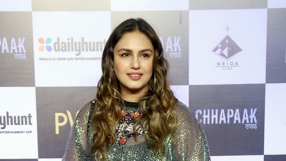 Huma Qureshi during film Chhapaak special screening at PVR Juhu in Mumbai.