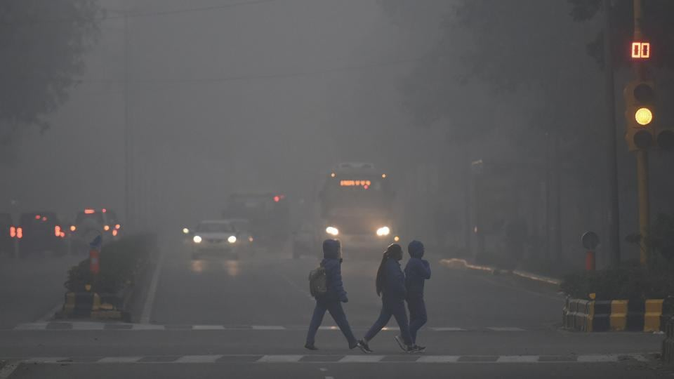 Fog engulfed the national capital a day after cloud cover led to slight rise in temperature.
