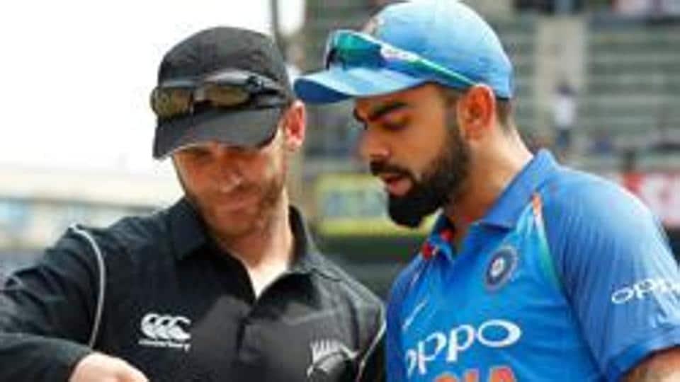 File image of India skipper Virat Kohli with Kane Williamson.