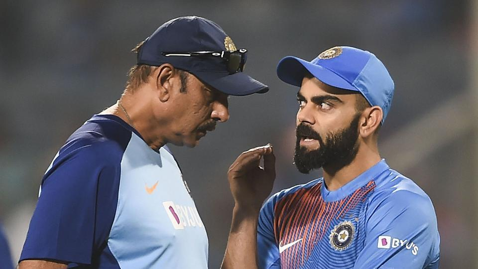 File image: Indian captain Virat Kohli along with Indian coach Ravi Shastri.