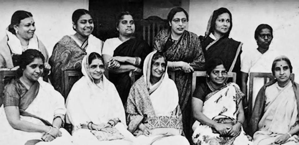 Eleven of 15 women members of Constituent Assembly