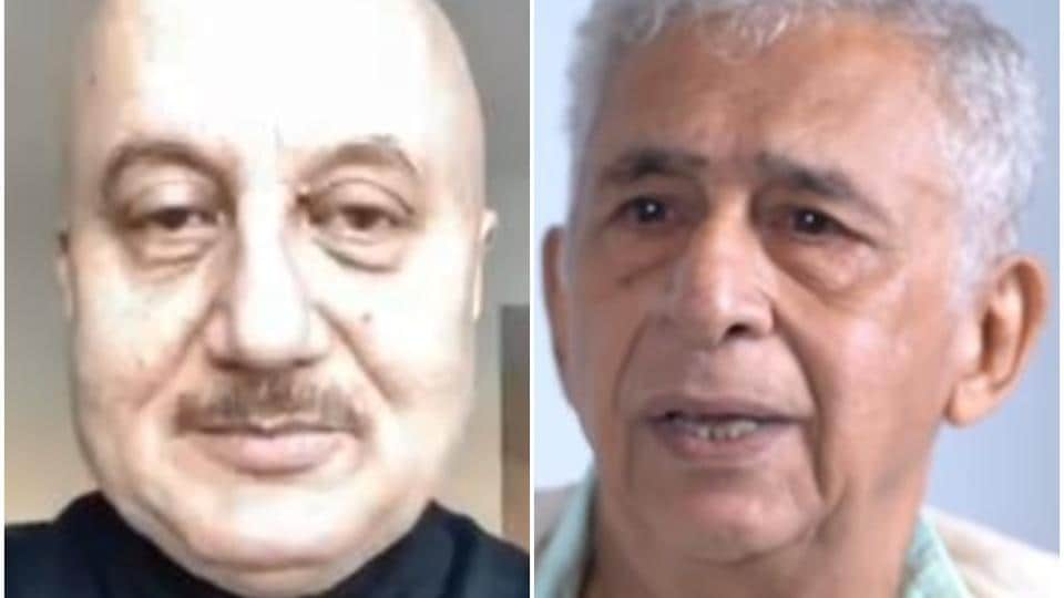 Anupam Kher and Naseeruddin Shah have been hurling allegations at each other.