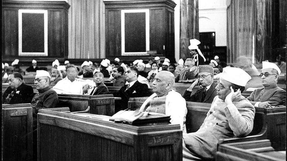 A view of the Constituent Assembly on December 10, 1946.