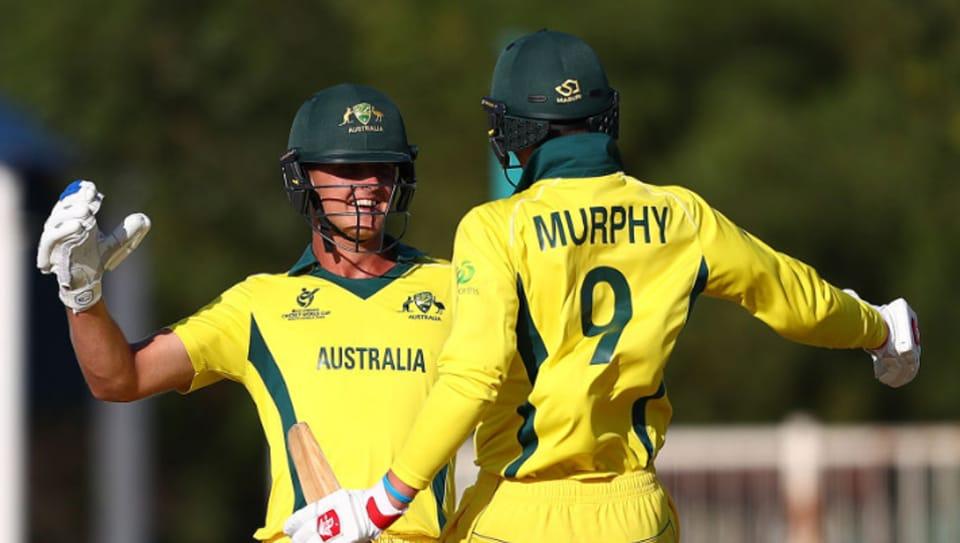 Australia cricket team celebrates.
