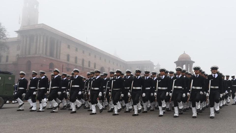 Republic Day rehearsal at Rajpath. Traffic on Rajpath — from Vijay Chowk to India Gate — has been restricted till the rehearsal is over on Thursday, and from 6 pm Saturday till the parade concludes on Sunday, police said in an advisory.