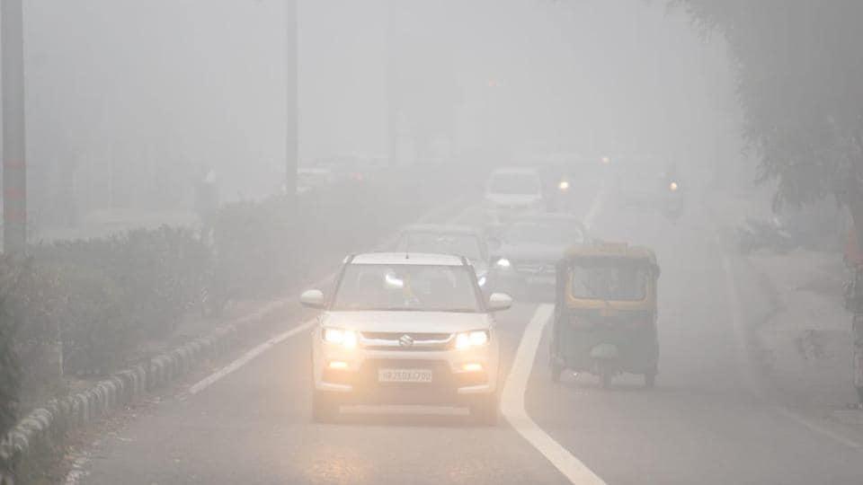 Delhi is breathing very poor air on Thursday.