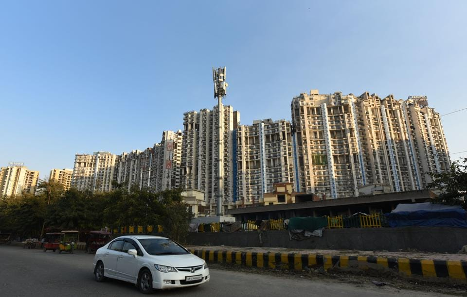 A view of Amrapali Platinum in Sector 120.