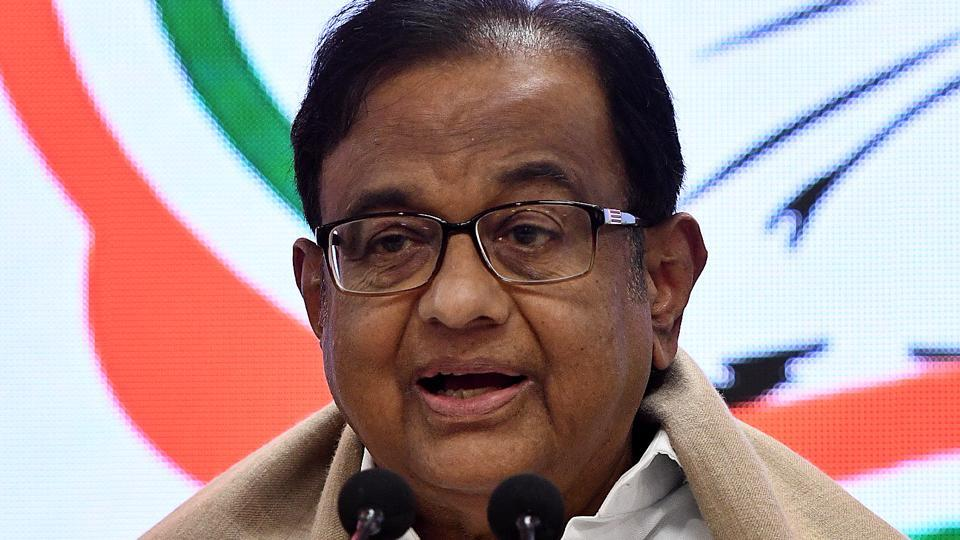 """Chidambaram responded to Democracy Index that ranked India 51st, and underlined that anyone who has closely observed the events of the last two years """"knows that democracy has been eroded."""""""