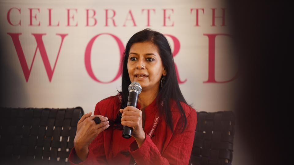 Actor Nandita Das speaks to the media about Citizenship Amendment Act (CAA) and National Register of Citizens (NRC) during the inaugural day of Jaipur Literature Festival.
