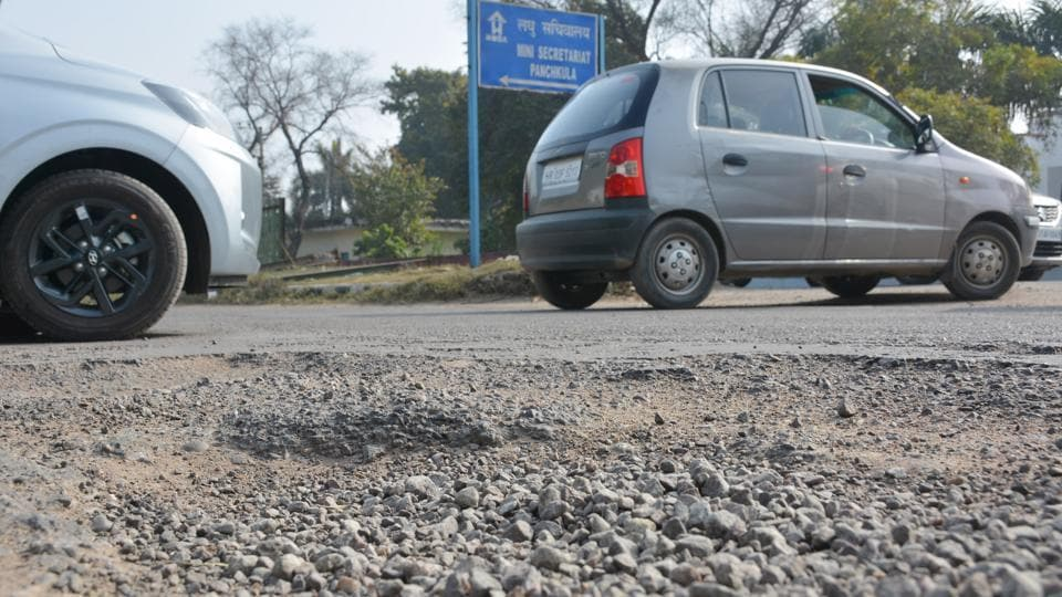 Sector 1/2 (in pic), 1/6, 7/8, 7/18 and 20/21 roads in Panchkula are to be repaired first.