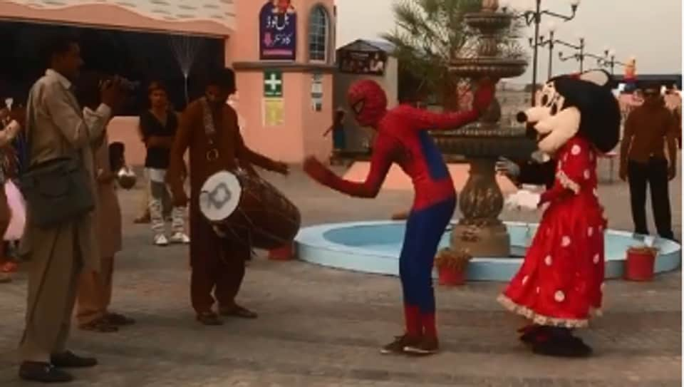The TikTok video of dancing 'Spider-Man' created a stir again after being shared on Facebook.