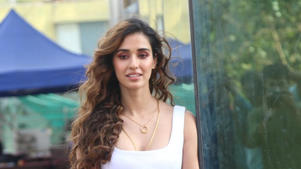Disha Patani seen at the office of Luv Films during the promotions of her upcoming film Malang, at Andheri in Mumbai.