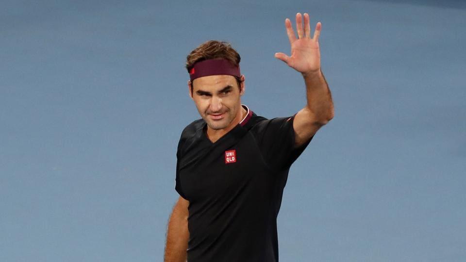 Roger Federer waves after his match against Australia's John Millman.
