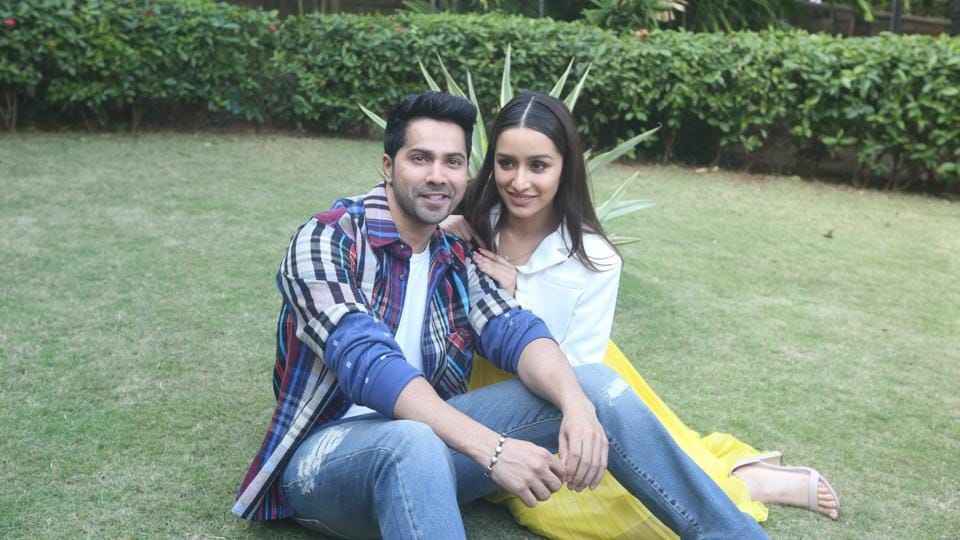Varun Dhawan and Shraddha Kapoor during the promotions of their film Street Dancer 3D.