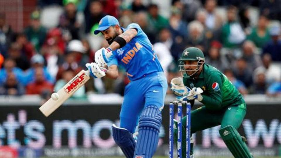 File image of India skipper Virat Kohli in action against Pakistan.