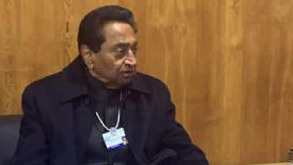 Madhya Pradesh Chief Minister Kamal Nath during the Davos World Economic Forum State Session on Wednesday.