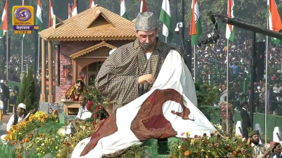 Jammu and Kashmir took part in the Republic Day parade for the first time as a union territory
