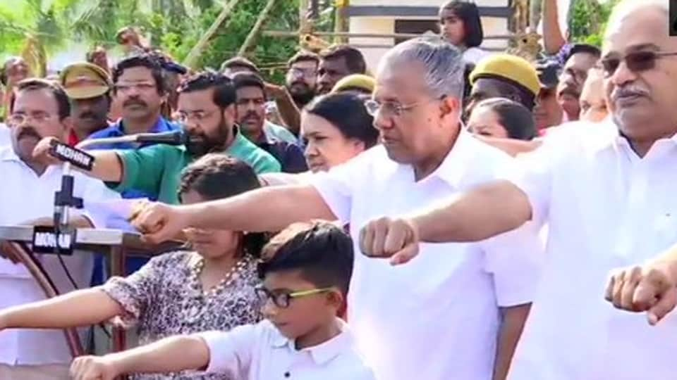 Pinarayi Vijayan, who has been at the forefront of opposing the contentious Citizenship Amendment Act (CAA), and CPI leader Kanam Rajendran joined the protest in Kerala's capital of Thiruvananthapuram.
