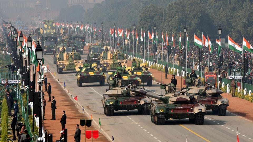 Army's T-90 tanks followed by Ballway machine Pikate (BMP-II) (Sarath) tanks march down Rajpath during the 71st Republic Day parade in New Delhi, on Sunday, January 26, 2020.