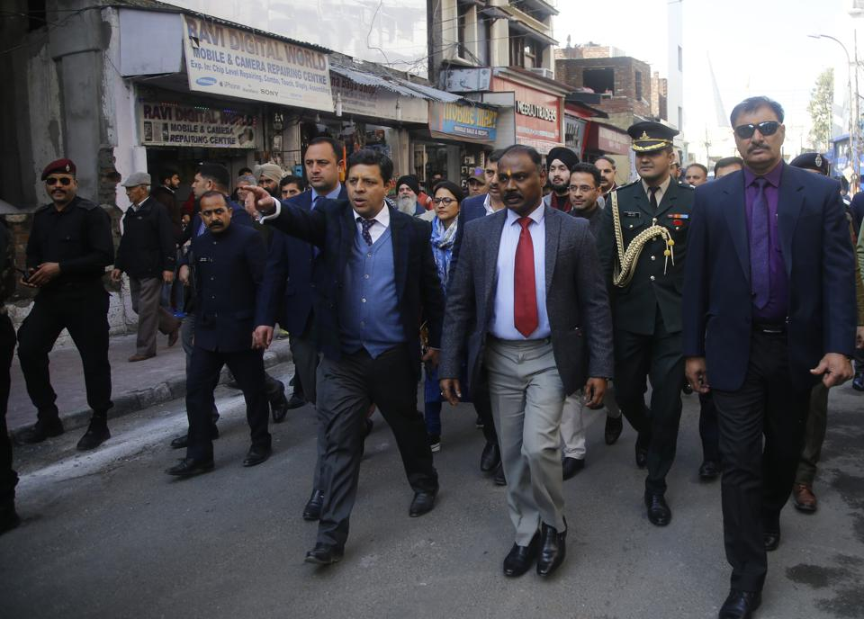 Jammu & Kashmir Lt. Governor GC Murmu during his visit in Jammu on  January 17, 2020. He said Jammu and Kashmir was now at the doorstep of a brighter future.