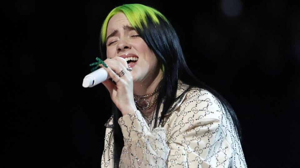 Billie Eilish performs at the 62nd Grammy Awards.