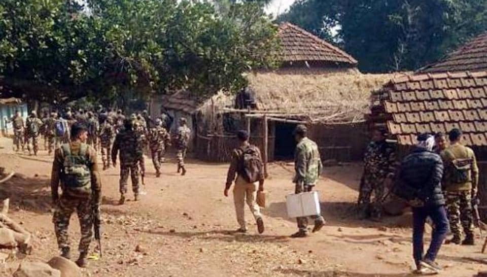 Police officials in Malkangiri said the families took shelter in Kuntarpadar police camp on Monday after the Maoists burnt down 10 homes and several motorcycles on Sunday morning.