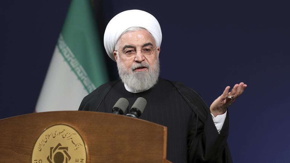 """In this photo released by the official website of the office of the Iranian Presidency, President Hassan Rouhani called on Iranians of all stripes to vote, """"even if... there are shortcomings in elections""""."""