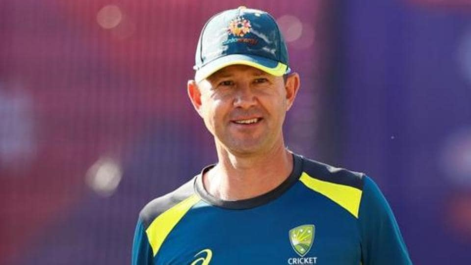 Australia assistant coach Ricky Ponting during nets.