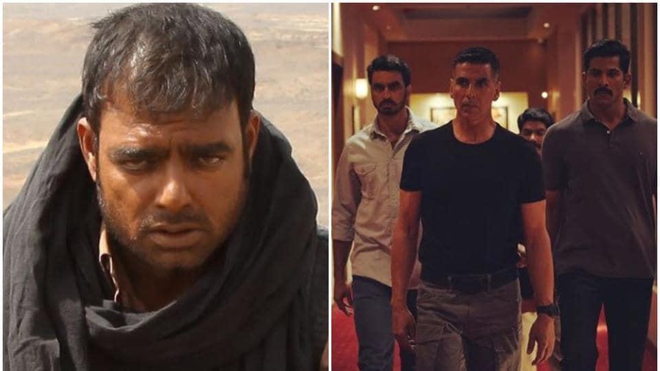 (Left) Abhimanyu Singh in a still from 2017's Karti starrer Theeran Adhigaaram Ondru, (right) AkshayKumar in a still from Sooryavanshi.