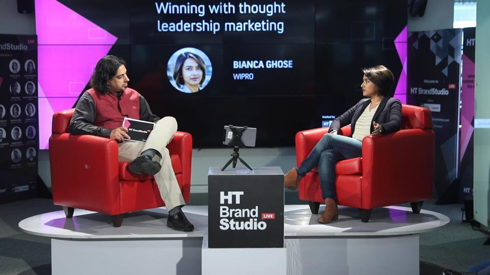 Bianca Ghose of Wipro interacts with Rameet Arora of HT in Episode 12 of HT Brand Studio Live, Season 2.