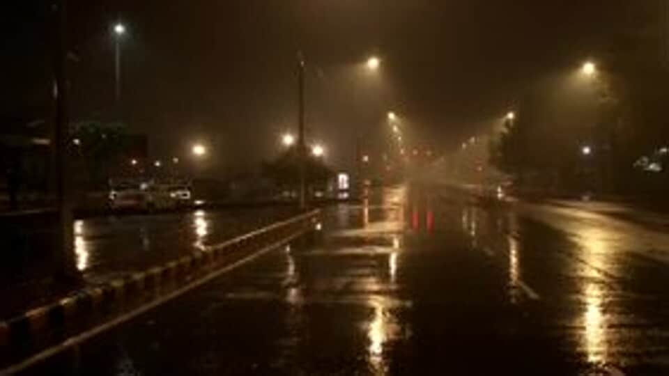 Rain lashed parts of Delhi on Tuesday. (ANITwitter)