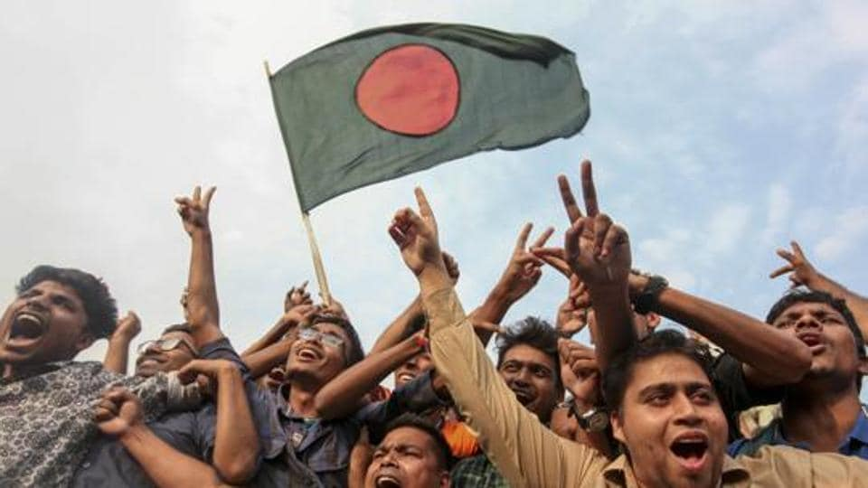 Bangladeshi cricket fans wave their national flag and cheer after the Bangladesh cricket team clinched a historic four-wicket win against Sri Lanka in their 100th test match, as they celebrate in Dhaka, Bangladesh, Sunday, March 19, 2017. (Representational image)
