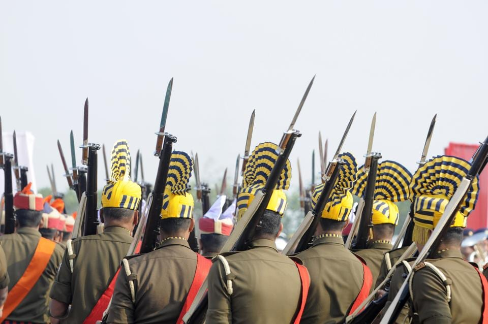 Defence personnel hold rifles at police line in Greater Noida. Image used for representational purpose only.