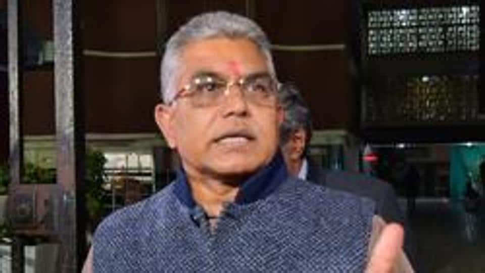 Shiv Sena on Tuesday lodged a complaint with the state human rights commission against Bharatiya Janata Party's (BJP) Bengal chief Dilip Ghosh (above)for threatening to kill those protesting against the CAA.