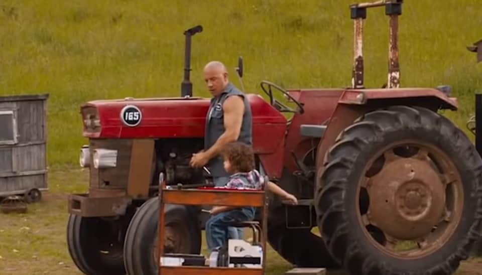 Vin Diesel in a still from F9 The Fast Saga teaser.