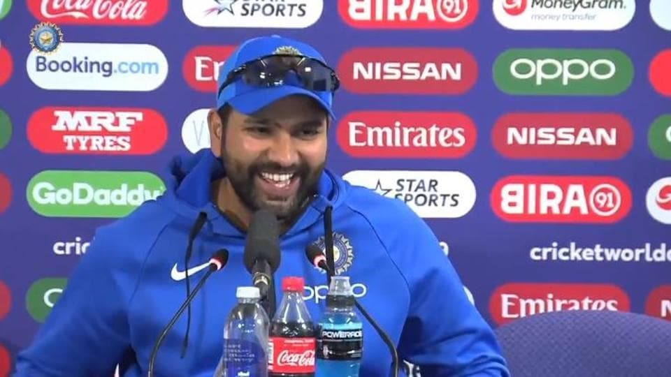 Rohit Sharma interacts with the media (File)