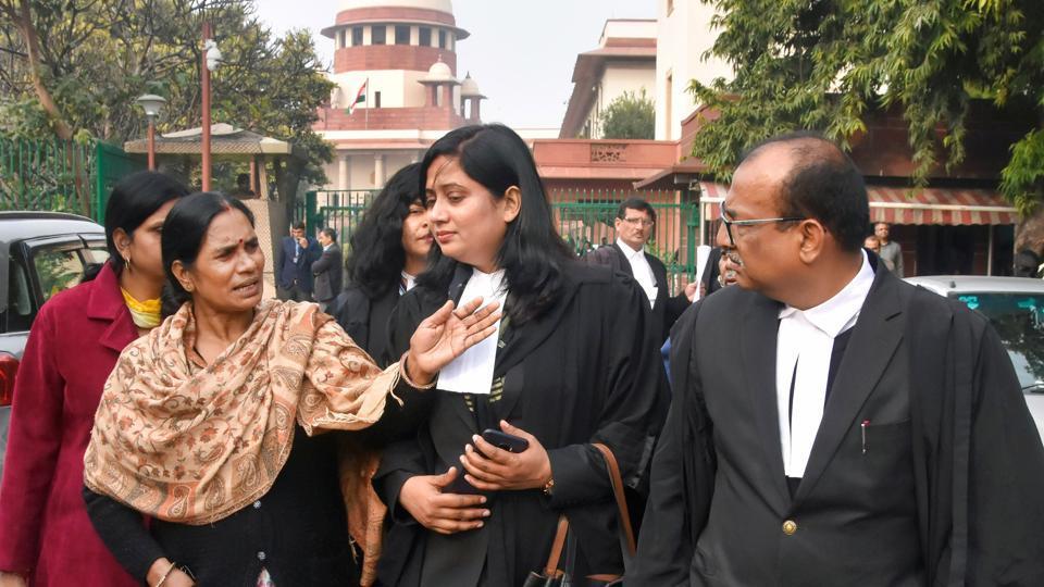 Delhi gang rape victim's mother Asha Devi at the Supreme Court on January 28.