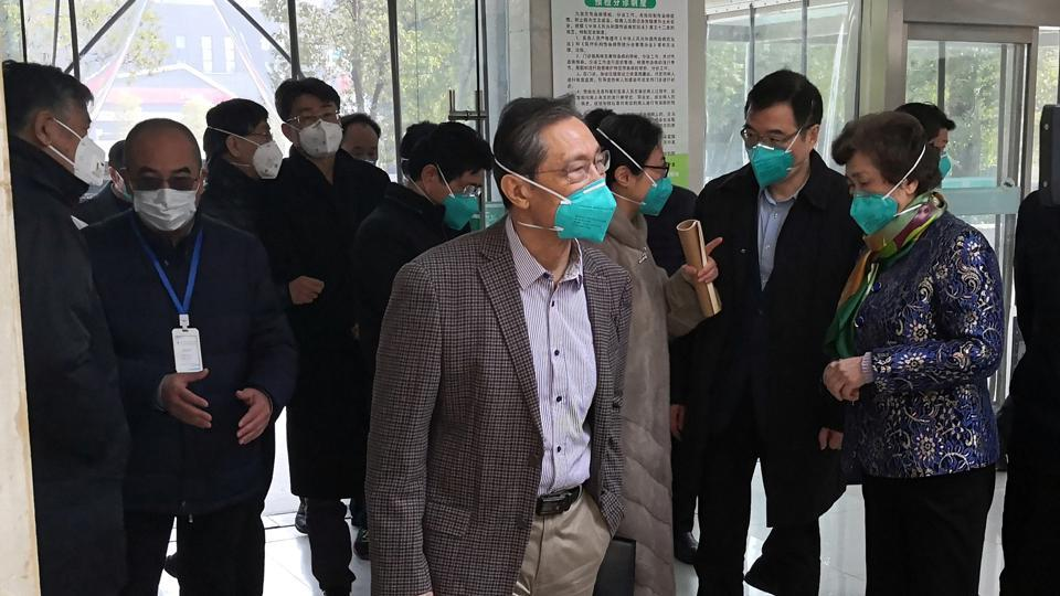 Zhong Nanshan, a respiratory expert and head of the health commission team investigating the outbreak of the new coronavirus, visits the Jinyintan hospital, where the patients with pneumonia caused by the new strain of coronavirus are being treated, in Wuhan, Hubei province, China January 19, 2020.