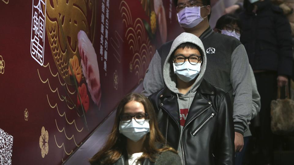 People wear masks at a metro station in Taipei, Taiwan.