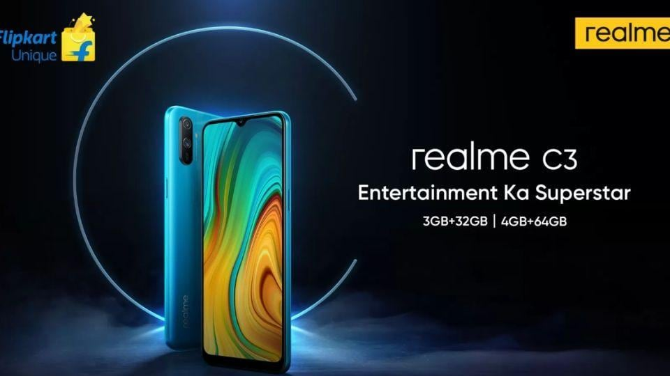 Realme C3 budget phone launching in India on February 6.