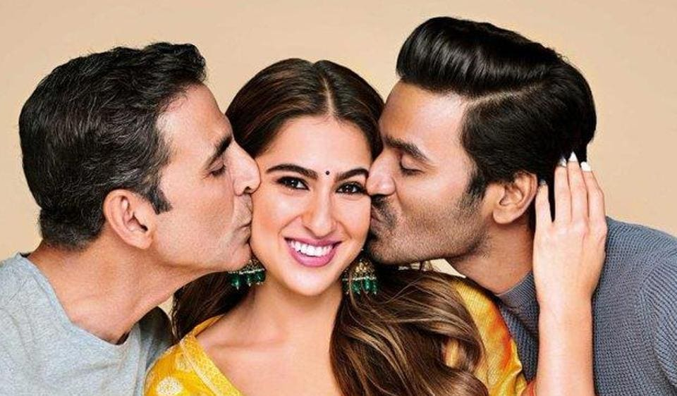 Fans of the three stars are going crazy as they share pictures of the Atrangi Re trio.